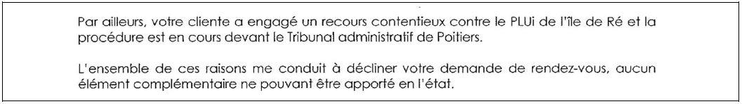 Extrait du courrier du Président de la CDC du 28 septembre 2012